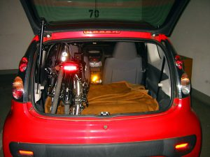 Faltrad im Kleinwagen